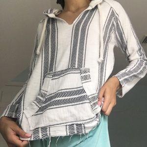 Ocean Drive striped Baja hoodie